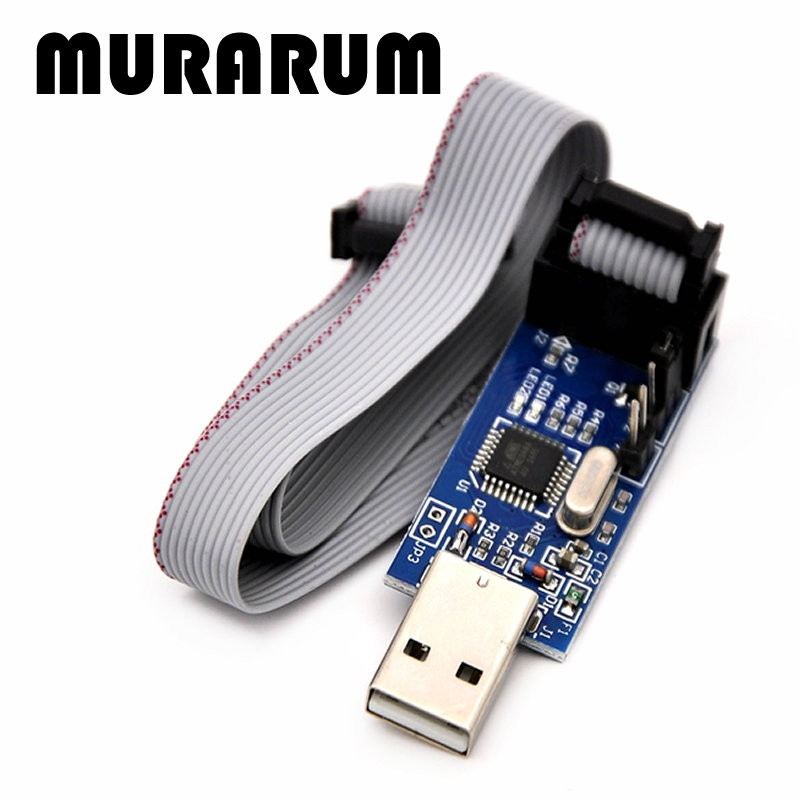 MURARUM 85022 1pcs New USBASP USBISP AVR Programmer USB ISP USB ASP ATMEGA8 ATMEGA128 Support Win7 64  51 avr programmer isp download usb asp downloader