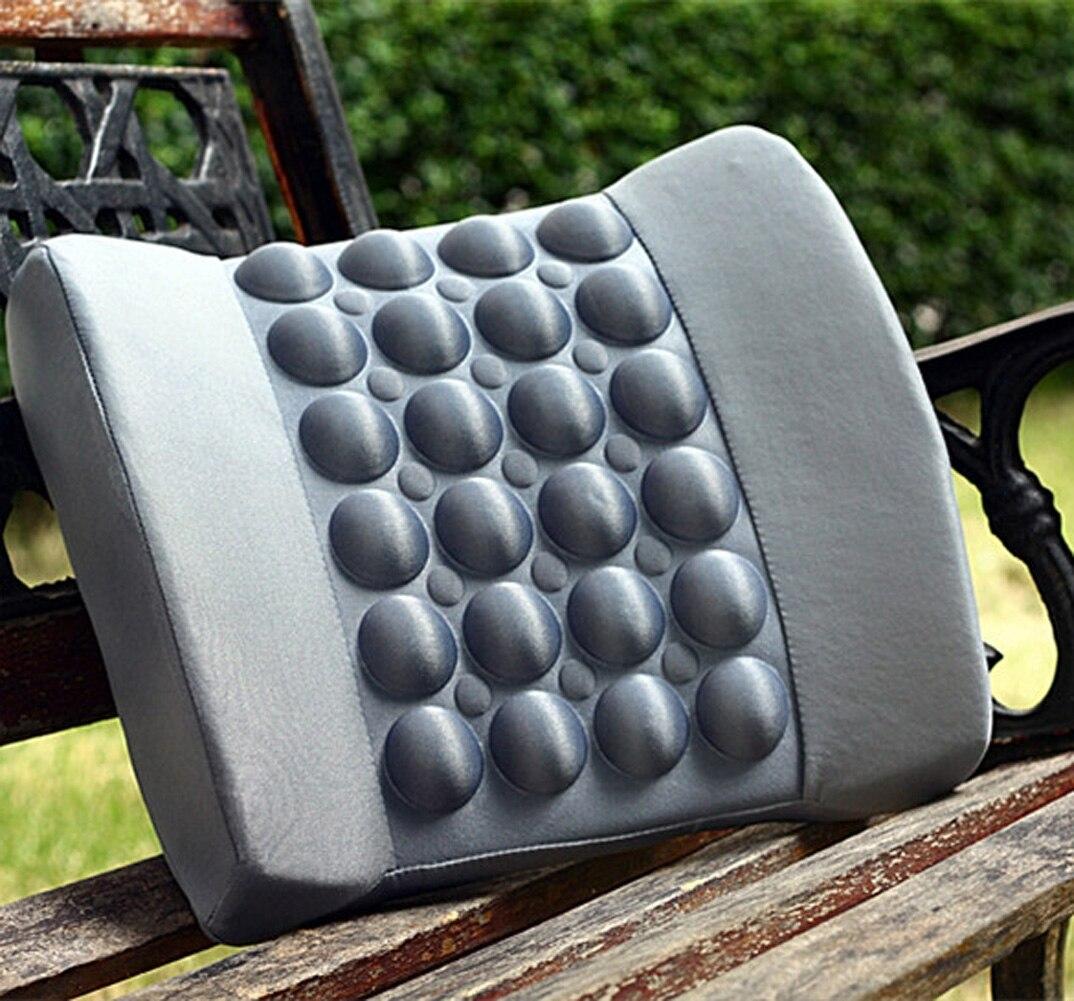 Support de taille de coussin arrière de coin de bulle de massage de véhicule automatique, coussin de bois, avec le câble d'usb