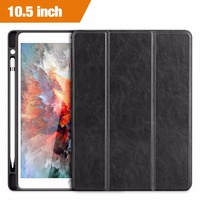 For IPad Pro 10 5 Inch Case 2017 New Leather Slim Smart Cover With Pencil Holder