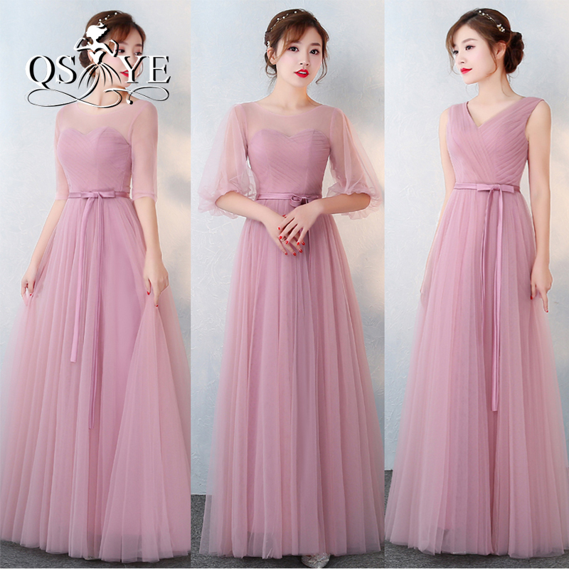 Vintage Dusty Pink Long Bridesmaid Dresses 2017 New Arrival Off the ...