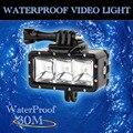 Подводные 30 м Водонепроницаемый Высокой Мощности Затемнения СВЕТОДИОДНЫЕ ЛАМПЫ Видео POV Флэш Заполняющий Свет Ночник для GoPro Hero 4 3 + 3 2 1 Действий Камеры
