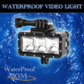 Underwater 30 m À Prova D' Água de Alta Potência Dimmable LEVOU POV de Vídeo Flash de Luz de Preenchimento luz da noite para a câmera ação gopro hero 4 3 + 3 2 1