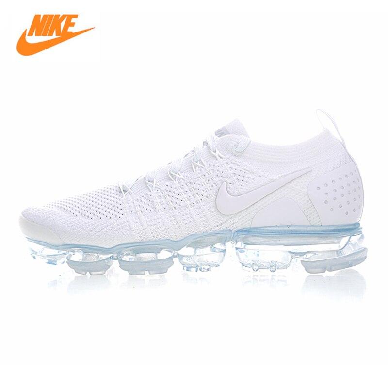 Nike Air Vapormax Flyknit Chaussures de Course des Hommes, blanc, respirant Non-glissement résistant à l'usure Léger 942842 100