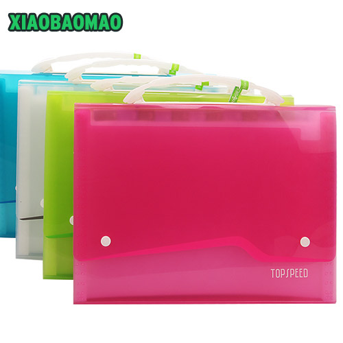 Cute Stationery File Folder A4 13 Pocket Waterproof Convenient Manage Holder Office Supplies Stationery