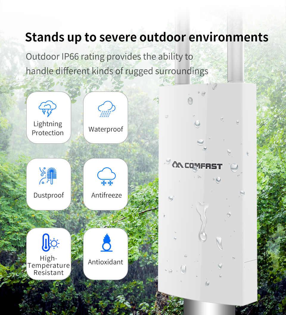 Comfast 300Mbps-1200Mbps אלחוטי Wifi משחזר חיצוני 2.4 & 5.8Ghz מתח גבוה חיצוני עמיד למים Extender Wifi נתב אנטנת AP