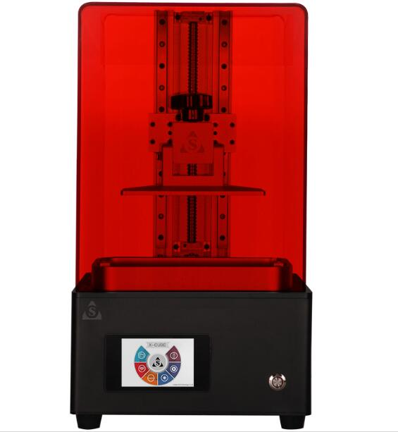 double track rail X CUBE LCD 3D printer SLA UV curing photosensitive resin Printing Size 120X60X200MM