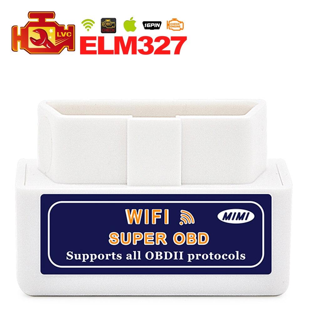 Prix pour Mini ELM 327 Super ELM 327 Wifi avec PIC18F25K80 Puce voiture Outil De Diagnostic OBD2 Scanner Interface Soutien Android et IOS système