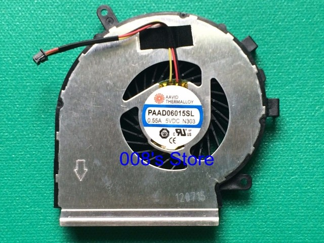 Original New Notebook CPU Cooling Fan For MSI GE72 GE62 PE60 PE70 GL62 GL72 AAVID THERMALLOY PAAD06015SL 3 Pin 0.55A 5VDC N303