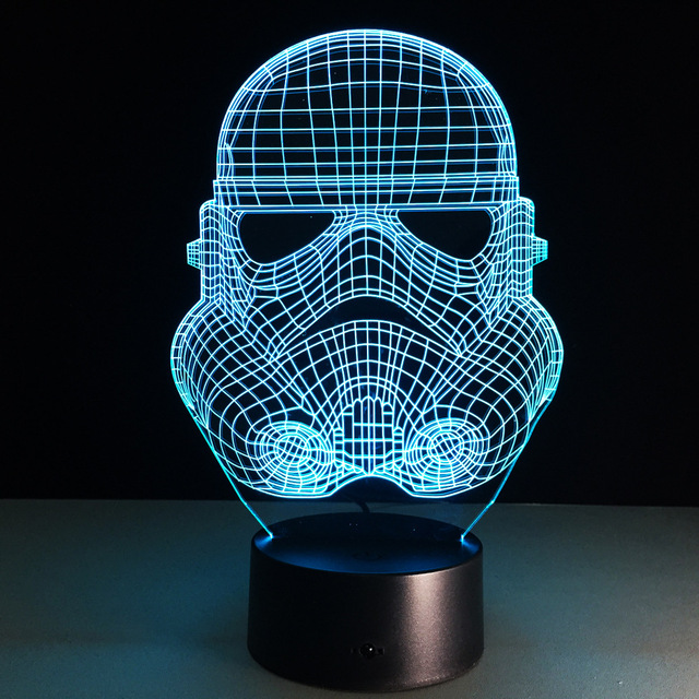 Star Wars Creative 3D illusion Lamp LED