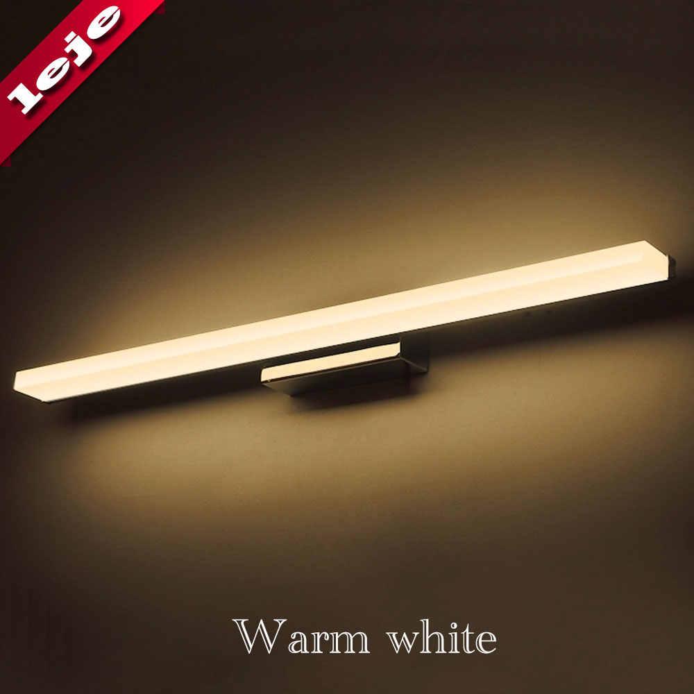 Светодиодный настенный светильник Настенный светильник 8 W 12 W светодиодный переднего зеркала настенные светильники для ванной комнаты Современная короткая Ванная комната Светильник для комода