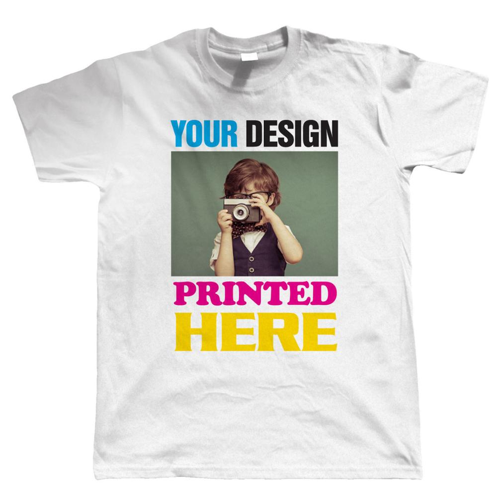 Design your own t shirt made in usa - Black Friday Custom Printed T Shirts Men S Short Sleeve Top O Neck Custom Printing Personalised Your Image Photo Design Your Own T Shirt