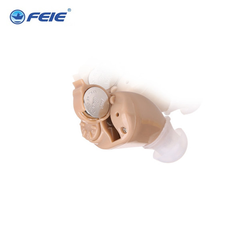 Micro Ear hearing aid mini ITE hearing aids for the elderly For Right Ear Left Ear hearing amplifier invisible hearing aidS-218 e35 newest rechargeable hearing aid auidphones microphone amplifier to profound deaf hearing aids left right ear dropshippin