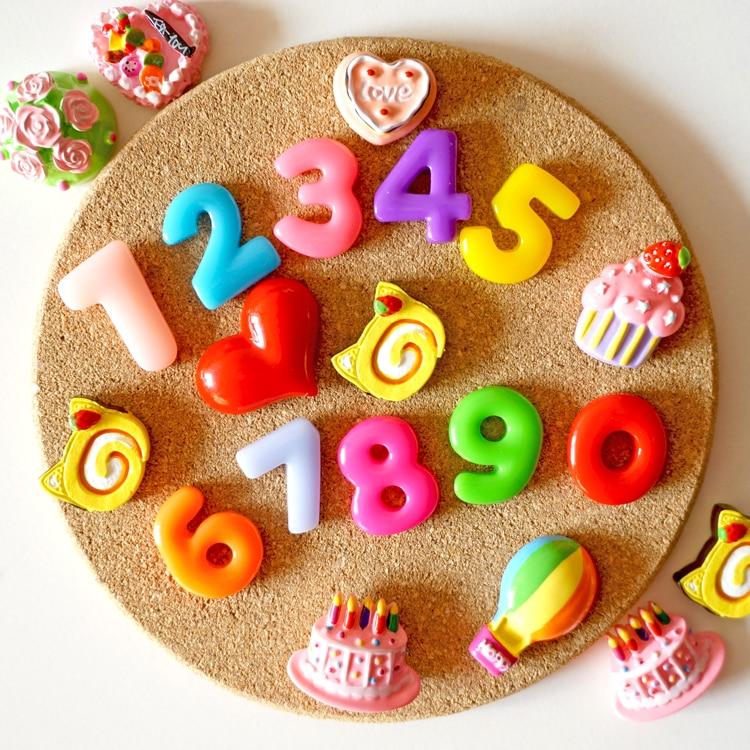 10 шт. красочные магнит на холодильник цифровой Количество Рисунок холодильник Наклейки Для детей развивающие игрушки смолы imanes de nevera