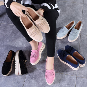 Image 5 - Plardin New Women Shoes Loafers Sneakers Genuine Leather Flat Platform  fringe Moccasins Ladies Female Fashion Shoes Woman