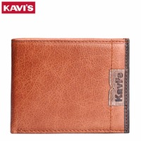 KAVIS Genuine Leather Men Wallet Vintage Credit Card Holder For Men Carteira Wallets Men Luxury Brand