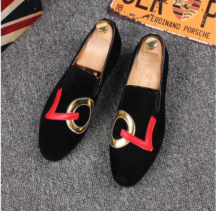 Parti Mariage 2 black 915 Style Chaussures Black De Hommes black 3 Conduite Nouveau Europe Printemps Brodé Promotion Mocassins Pantoufles 1 Noir Velours vHX8B8q