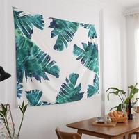 130cmx150cm Banana Leaf Tapestry Plant Nordic Wall Hangs Bedroom Sofa Background Beach Towel Blanket Home Room Wall Decoration
