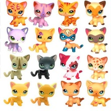 Rare Original LPS Pet Shop Cute Anime Collection Classic Kitty Dog Short Hair Cat Model Action Figure Children Toys Gifts