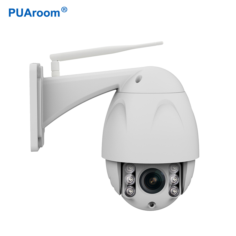 PUAroom 1080P FHD Wireless PTZ Dome IP Camera Outdoor Network Surveillance Security IP C ...