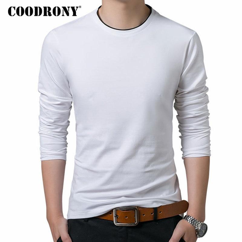 COODRONY   T     Shirt   Men 2018 Autumn Casual All-match Long Sleeve O-Neck   T  -  Shirt   Men Brand Clothing Soft Cotton Tee   Shirts   Tops 8617
