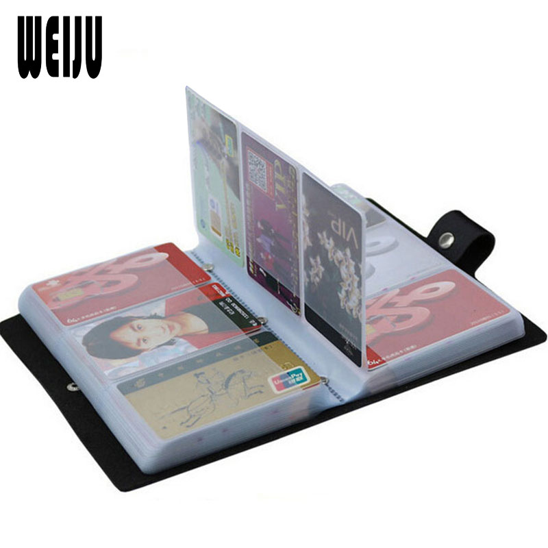 WEIJU Unisex Double ID Business Credit Card Holder