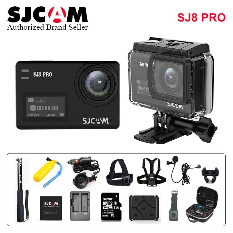 Galleria fotografica Original SJCAM SJ8 Pro Sport Action Camera WiFi 4K 60fps Dual Touch Screeen Waterproof SJ CAM SJ8 Pro Better go pro 5 Sport DV