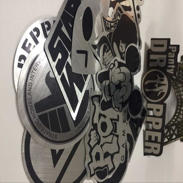 Metallic Color Black and White Stickers for Laptop