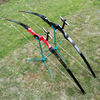 53 30 40lbs Sports Takedown Longbow Recurve Bow Hunting Target Shooting Right Hand Archery Shooting Practice