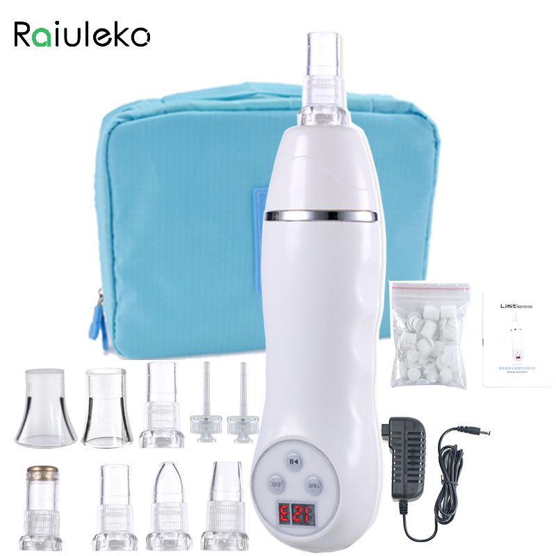 7 Tip Skin Diamond Peeling massager Facial Spa Face skin care Device blackhead Pore Cleaning Device acne removal Machine deep face cleansing brush facial cleanser 2 speeds electric face wash machine