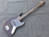 High Quality 4 Strings Zebra Wood Electric Bass Guitar Zebra Wood Neck