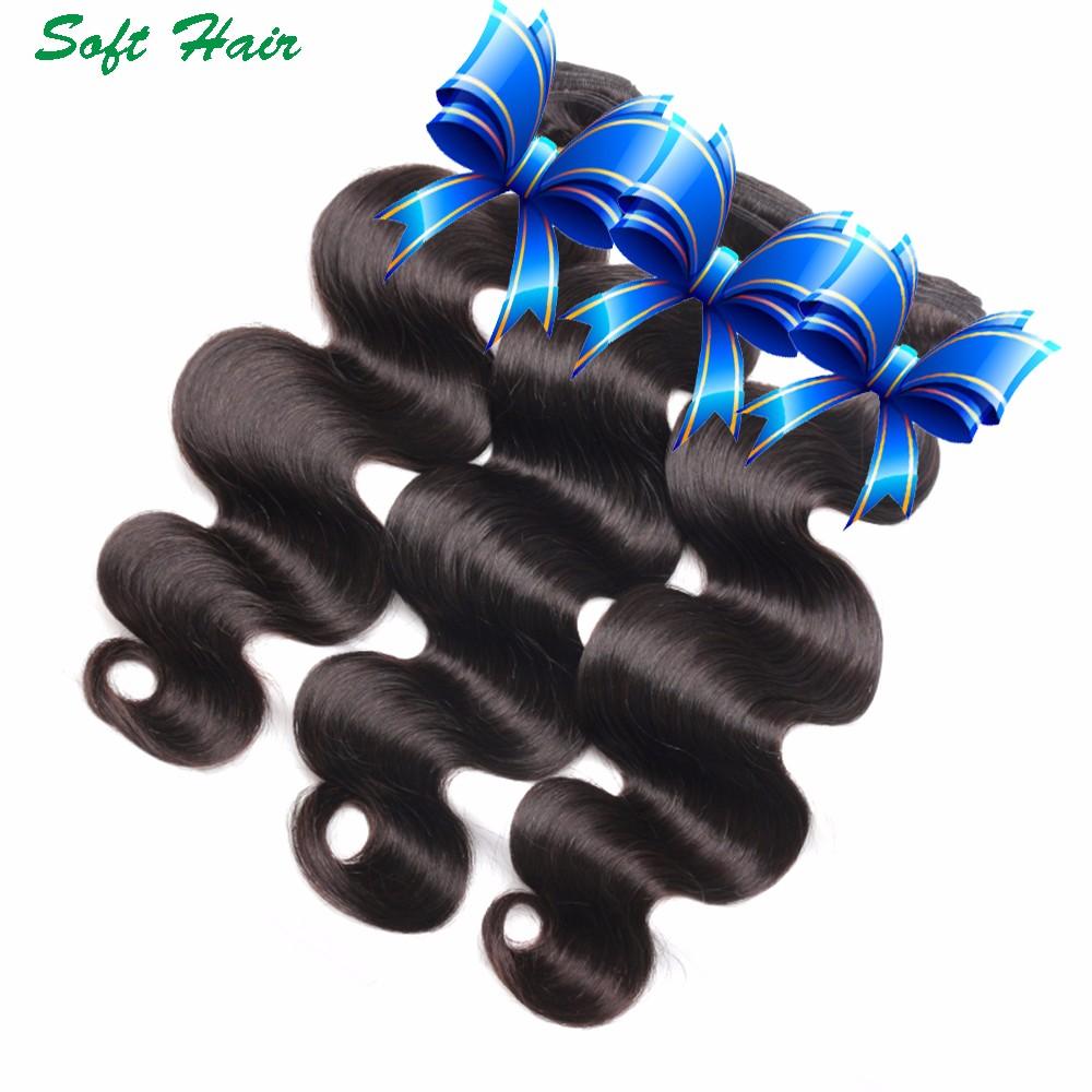 wet and wavy soft hair indian virgin human hair bundles body wave 74