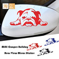 30pcs  Mini cooper clubman countryman paceman rear view mirror sticker, bulldog decal stickers