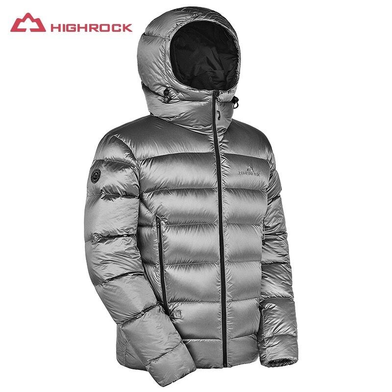 HIGHROCK 2018 Winter Goose Down Jacket Men Thick Thermal Coat Lightweight Outdoor Waterproof Ski Camping Down Jackets
