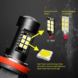 Image 3 - 2個H8 H11 led電球HB4 led電球HB3 9006 9005 smdライト1200LM 6000 18k 12 12vホワイト実行している駆動車のランプ自動車電球