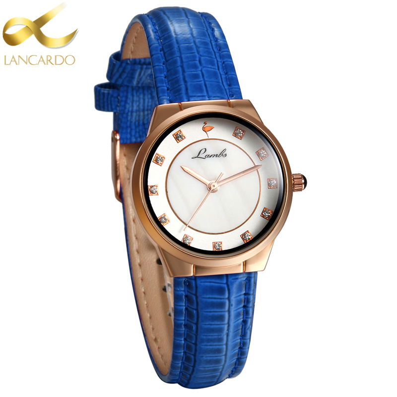 Lancardo Brand Leather Watches Women Casual Classic Quartz Wristwatches Ladies Rose Gold Dial Sport Bracelet Watch Montre Femme gaiety casual women quartz watch women leather bracelet fashion watch ladies classic rose dial wristwatch colorful gift g189
