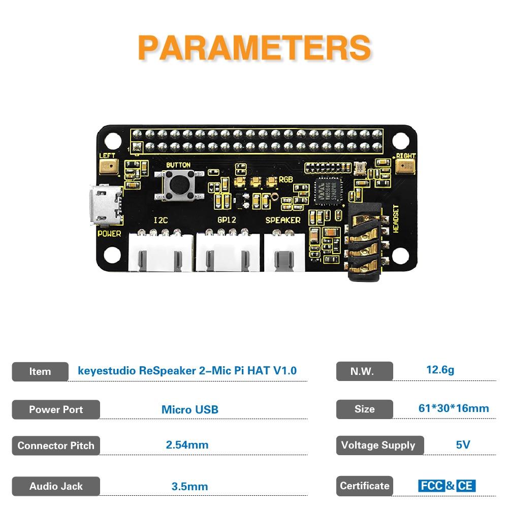 KS0314 ReSpeaker 2-Mic Pi HAT V1 (3)