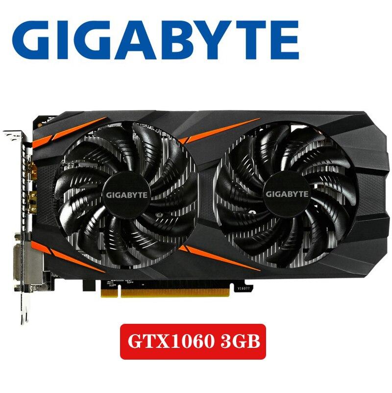 PC Desktop GIGABYTE Video Card GTX 1060 3GB Graphics Cards Map For nVIDIA Geforce GTX1060 OC