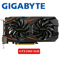 PC Desktop GIGABYTE Video Card GTX 1060 3GB Graphics Cards Map For nVIDIA Geforce GTX1060 OC GDDR5 192Bit Hdmi Videocard Cards
