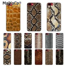 MaiYaCa python yellow gold Snake skin Customer Phone Case For iphone 11 Pro 11Pro Max 8 7 6 6S Plus X XS MAX 5 5S SE XR
