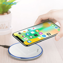FDGAO 15W Fast Wireless Charger For Samsung Galaxy S10 S9 Note 9 8 10W Qi induction Charging Pad iPhone XS Max XR X Plus