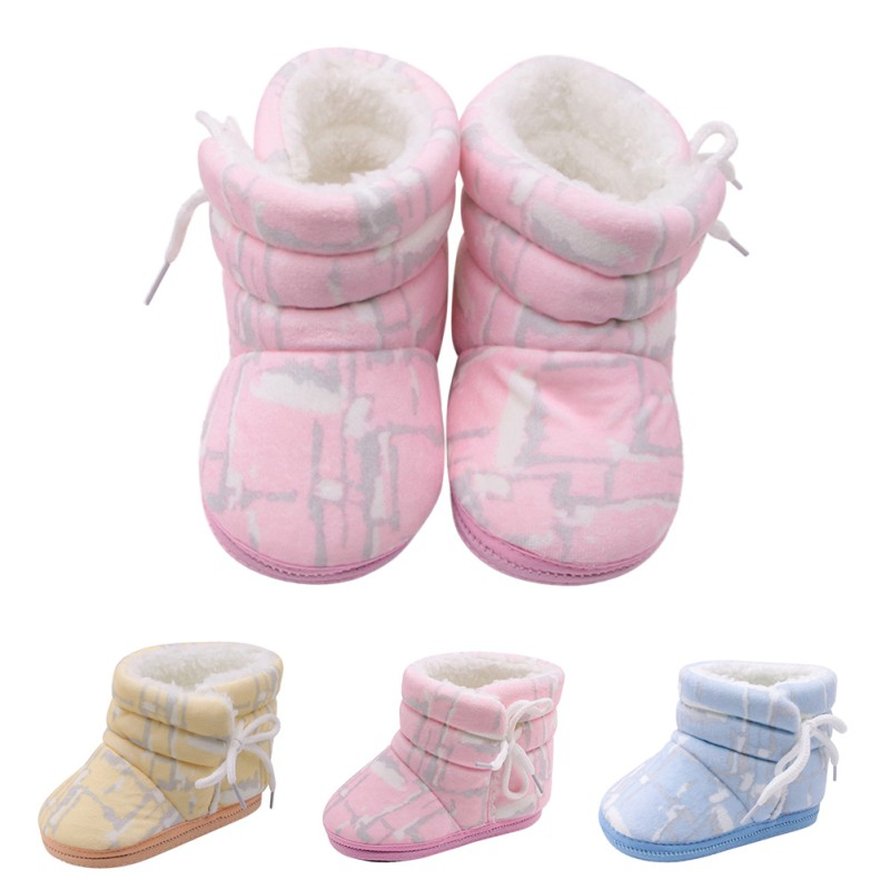 Spring Winter Baby Boys Girls Shoes Russia Winter Infants Warm Shoes Faux Fur Girls Baby Booties Leather Boy Baby Boots