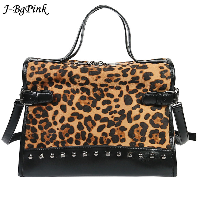 US $17.37 50% OFF Sac Bandouliere Femme De Luxe Leopard Women Fashion Rivet Bag Famous Brands Purse Sac A Main Ladies Crossbody Bag Shoulder Bags   