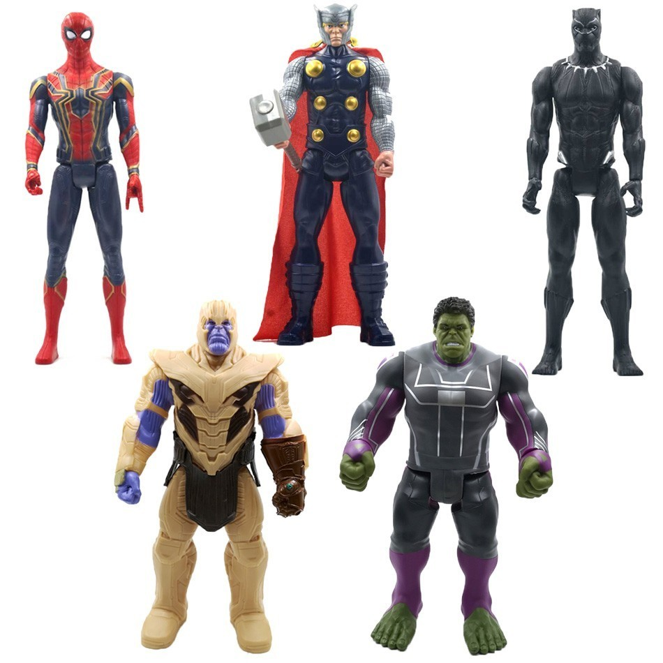 30 cm Marvel Avengers 4 Endgame Toy Thanos Hulk Spiderman Iron Man Thor Wolverine Black Panther Venom Action Figure Kid image
