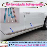 Car ABS Chrome Side Door Trim Stick Strip Molding Stream Bumper Lamp Panel Frame V01kswagen Golf
