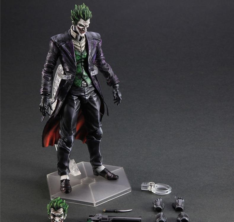 Bat Man Joker Figure Bat-man Jack Play Arts Kai Figure Napier Arkham Origins The Joker 25cm Action Figure Doll Toys Kids Gift