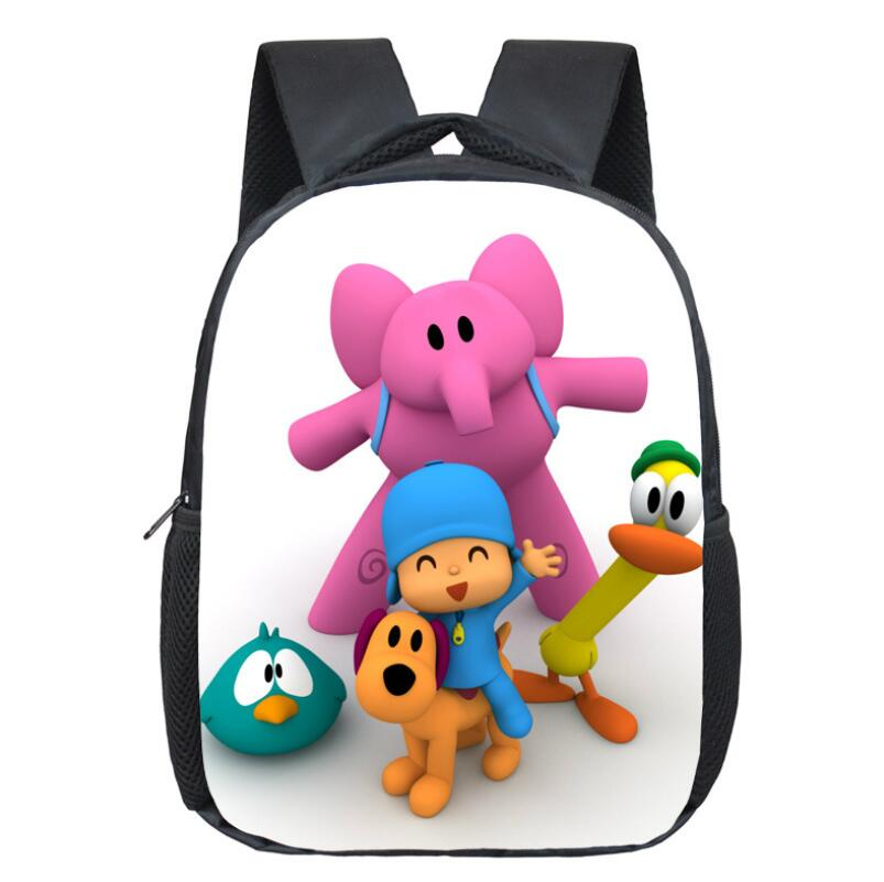 12 Inch POCOYO Elly Pato Loula Backpack Students School Bags Boys Girls Daily Backpacks Children Bag Kids Best Gift Backpack 16 inch anime game of thrones backpack for teenagers boys girls school bags women men travel bag children school backpacks gift