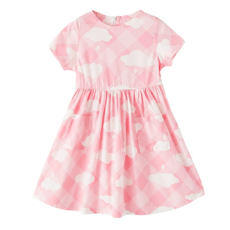 Teenage Girls Dress New Design Cotton Princess Dresses For Girls Infant Clouds Casual Children Clothing Fashion Kids Clothes summer 2017 girls dress printed cotton dresses for girls infant dress sweet ice cream children clothing princess kids clothes