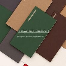 Fromthenon, японская винтажная записная книжка для путешественников, Заправка для Midori, планировщик, паспорт/карман/стандарт A5, ежемесячный недельный наполнитель, бумага