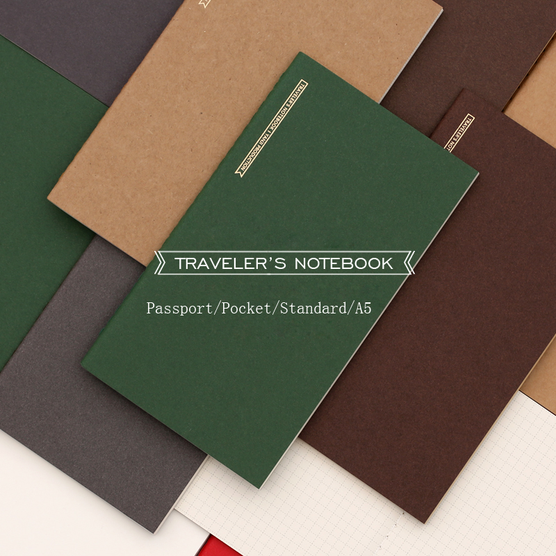 Fromthenon Japanese Vintage Travelers Notebook Refill For Midori Planner Passport/Pocket/Standard A5 Monthly Weekly Filler Paper