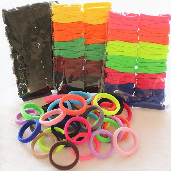 Mix Color 10/20/24/30/40/50/100pcs Rubber Bands Elasticity Holders Hair Rope Elastic Hair Ties For Girls Hair Accessories